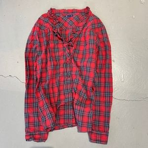 - GAP Red plaid button up top